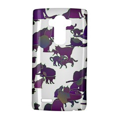 Many Cats Silhouettes Texture Lg G4 Hardshell Case by Amaryn4rt
