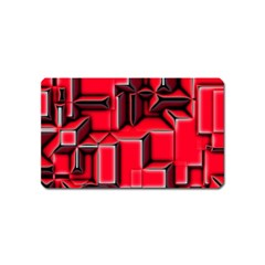Background With Red Texture Blocks Magnet (name Card) by Amaryn4rt