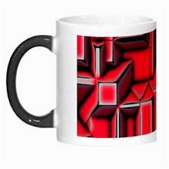 Background With Red Texture Blocks Morph Mugs by Amaryn4rt