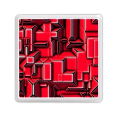 Background With Red Texture Blocks Memory Card Reader (square)  by Amaryn4rt