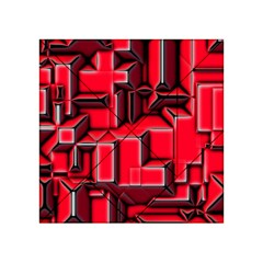 Background With Red Texture Blocks Acrylic Tangram Puzzle (4  X 4 ) by Amaryn4rt