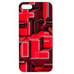 Background With Red Texture Blocks Apple Iphone 5 Hardshell Case With Stand by Amaryn4rt