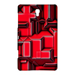 Background With Red Texture Blocks Samsung Galaxy Tab S (8 4 ) Hardshell Case  by Amaryn4rt