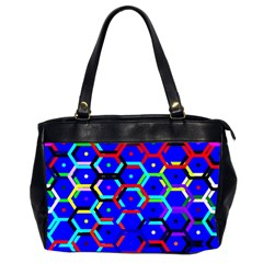 Blue Bee Hive Pattern Office Handbags (2 Sides)  by Amaryn4rt