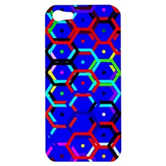 Blue Bee Hive Pattern Apple Iphone 5 Hardshell Case by Amaryn4rt