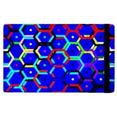 Blue Bee Hive Pattern Apple Ipad 3/4 Flip Case by Amaryn4rt