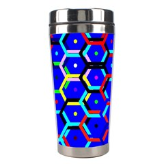 Blue Bee Hive Pattern Stainless Steel Travel Tumblers by Amaryn4rt