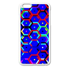 Blue Bee Hive Pattern Apple Iphone 6 Plus/6s Plus Enamel White Case by Amaryn4rt