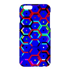 Blue Bee Hive Pattern Apple Iphone 6 Plus/6s Plus Hardshell Case by Amaryn4rt