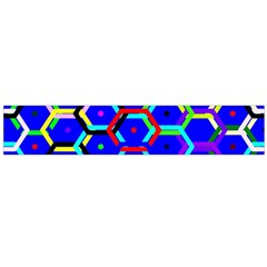 Blue Bee Hive Pattern Flano Scarf (large) by Amaryn4rt