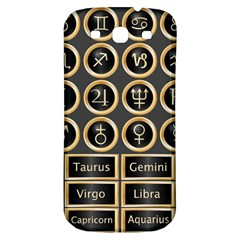Black And Gold Buttons And Bars Depicting The Signs Of The Astrology Symbols Samsung Galaxy S3 S Iii Classic Hardshell Back Case by Amaryn4rt