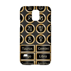 Black And Gold Buttons And Bars Depicting The Signs Of The Astrology Symbols Samsung Galaxy S5 Hardshell Case  by Amaryn4rt