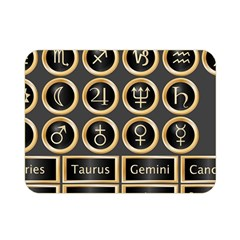 Black And Gold Buttons And Bars Depicting The Signs Of The Astrology Symbols Double Sided Flano Blanket (mini)  by Amaryn4rt