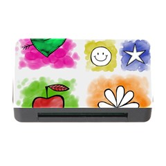 A Set Of Watercolour Icons Memory Card Reader With Cf by Amaryn4rt