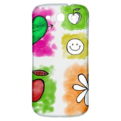 A Set Of Watercolour Icons Samsung Galaxy S3 S Iii Classic Hardshell Back Case by Amaryn4rt