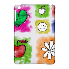 A Set Of Watercolour Icons Apple Ipad Mini Hardshell Case (compatible With Smart Cover) by Amaryn4rt