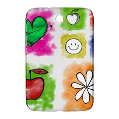 A Set Of Watercolour Icons Samsung Galaxy Note 8 0 N5100 Hardshell Case  by Amaryn4rt
