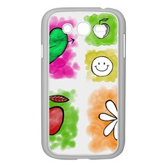 A Set Of Watercolour Icons Samsung Galaxy Grand Duos I9082 Case (white) by Amaryn4rt