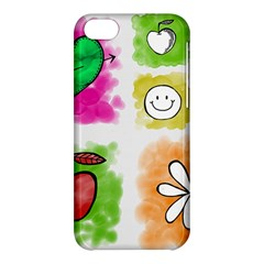A Set Of Watercolour Icons Apple Iphone 5c Hardshell Case by Amaryn4rt