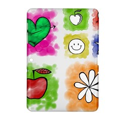 A Set Of Watercolour Icons Samsung Galaxy Tab 2 (10 1 ) P5100 Hardshell Case  by Amaryn4rt