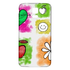 A Set Of Watercolour Icons Samsung Galaxy S5 Back Case (white) by Amaryn4rt