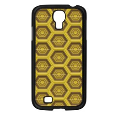 Golden 3d Hexagon Background Samsung Galaxy S4 I9500/ I9505 Case (black) by Amaryn4rt