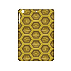 Golden 3d Hexagon Background Ipad Mini 2 Hardshell Cases by Amaryn4rt