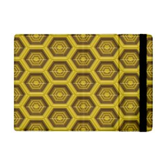 Golden 3d Hexagon Background Ipad Mini 2 Flip Cases by Amaryn4rt