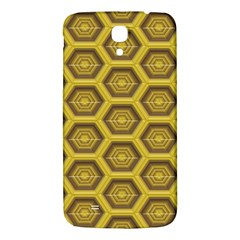 Golden 3d Hexagon Background Samsung Galaxy Mega I9200 Hardshell Back Case by Amaryn4rt