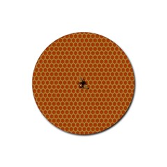 The Lonely Bee Rubber Coaster (round)  by Amaryn4rt