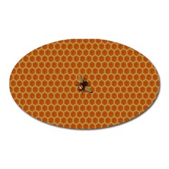 The Lonely Bee Oval Magnet by Amaryn4rt