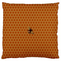 The Lonely Bee Large Cushion Case (one Side) by Amaryn4rt