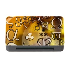 Symbols On Gradient Background Embossed Memory Card Reader With Cf by Amaryn4rt