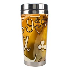 Symbols On Gradient Background Embossed Stainless Steel Travel Tumblers by Amaryn4rt