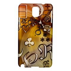 Symbols On Gradient Background Embossed Samsung Galaxy Note 3 N9005 Hardshell Case by Amaryn4rt