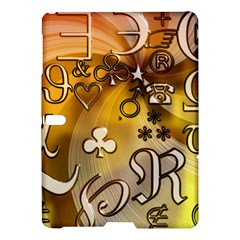 Symbols On Gradient Background Embossed Samsung Galaxy Tab S (10 5 ) Hardshell Case  by Amaryn4rt