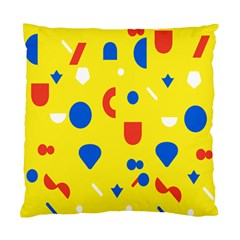 Circle Triangle Red Blue Yellow White Sign Standard Cushion Case (one Side) by Alisyart