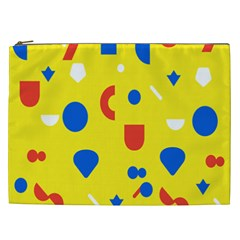Circle Triangle Red Blue Yellow White Sign Cosmetic Bag (xxl)  by Alisyart