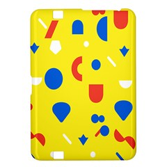 Circle Triangle Red Blue Yellow White Sign Kindle Fire Hd 8 9  by Alisyart