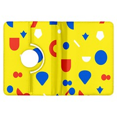 Circle Triangle Red Blue Yellow White Sign Kindle Fire Hdx Flip 360 Case by Alisyart