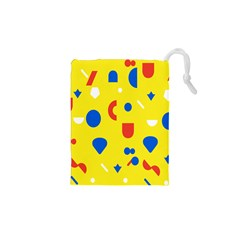 Circle Triangle Red Blue Yellow White Sign Drawstring Pouches (xs)  by Alisyart
