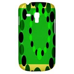 Circular Dot Selections Green Yellow Black Galaxy S3 Mini by Alisyart