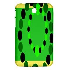Circular Dot Selections Green Yellow Black Samsung Galaxy Tab 3 (7 ) P3200 Hardshell Case  by Alisyart