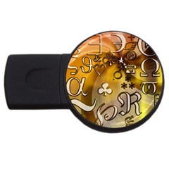 Symbols On Gradient Background Embossed Usb Flash Drive Round (4 Gb) by Amaryn4rt
