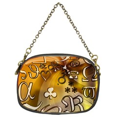 Symbols On Gradient Background Embossed Chain Purses (two Sides)  by Amaryn4rt