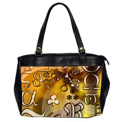Symbols On Gradient Background Embossed Office Handbags (2 Sides)  by Amaryn4rt