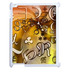 Symbols On Gradient Background Embossed Apple Ipad 2 Case (white) by Amaryn4rt