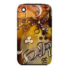 Symbols On Gradient Background Embossed Iphone 3s/3gs by Amaryn4rt