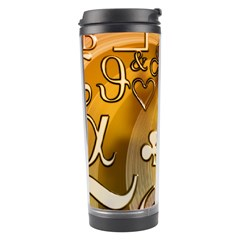 Symbols On Gradient Background Embossed Travel Tumbler by Amaryn4rt