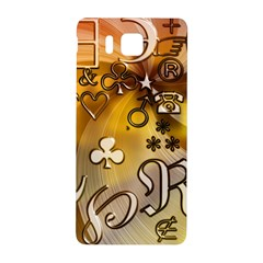 Symbols On Gradient Background Embossed Samsung Galaxy Alpha Hardshell Back Case by Amaryn4rt
